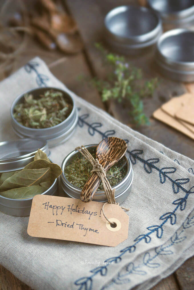 Closeup shot of DIY Dried Herbs by FamilySpice.com