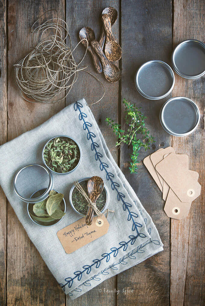 Overhead shot of DIY Dried Herbs by FamilySpice.com