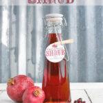 Homemade Pomegranate Shrub by FamilySpice.com