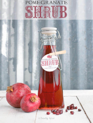 Homemade Pomegranate Shrub by FamilySpice.com