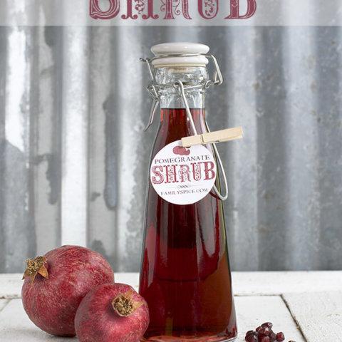 Homemade Holiday Gift Idea: Pomegranate Shrub by FamilySpice.com