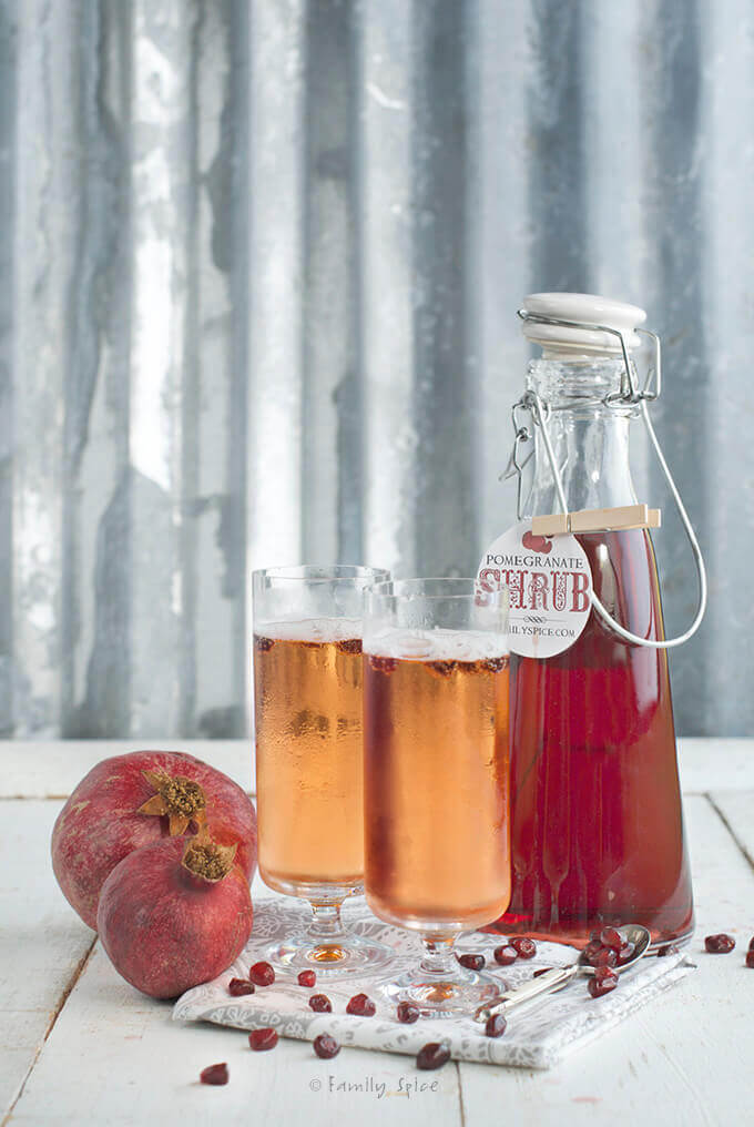 Pomegranate Shrub with Champagne by FamilySpice.com