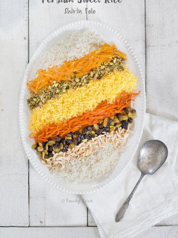 Shirin Polo with Raisins | Persian Sweet Rice by FamilySpice.com
