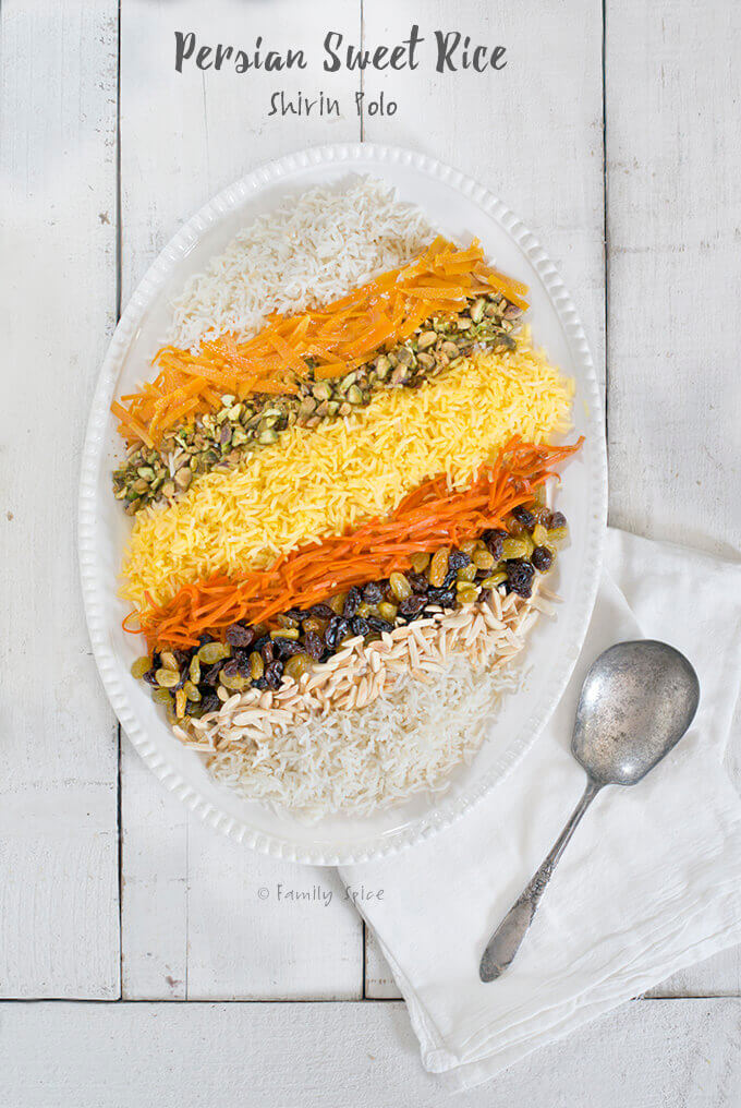 Persian Sweet Rice (Shirin Polo)