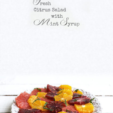 Citrus salad on a white platter by FamilySpice.com