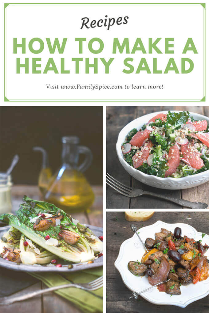 How to make a healthy salad by FamilySpice.com