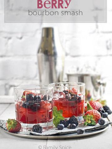 Berry Bourbon Smash by FamilySpice.com