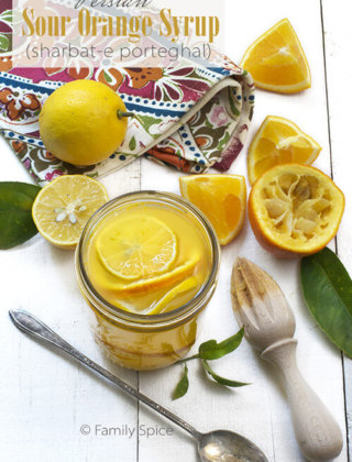 Persian Sour Orange Syrup (Sharbat-e Porteghal) by FamilySpice.com