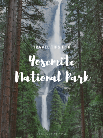 Image of Yosemite falls with text