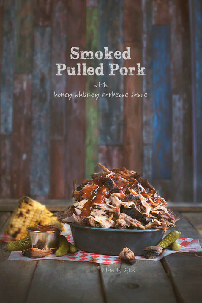 Smoked Pulled Pork with Honey Whiskey Barbecue Sauce