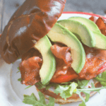 pinterest image for avocado BLT sandwich by FamilySpice.com