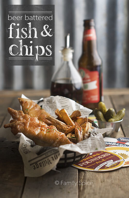 Classic Beer Battered Fish and Chips by FamilySpice.com