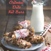 Easy No Bake Oatmeal Date Nut Bars