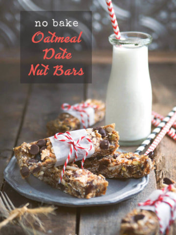 Easy No Bake Oatmeal Date Nut Bars by FamilySpice.com