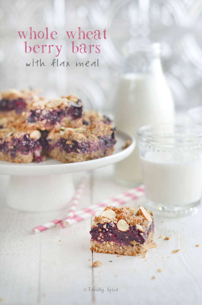 Whole Wheat Berry Bars with Flax Meal