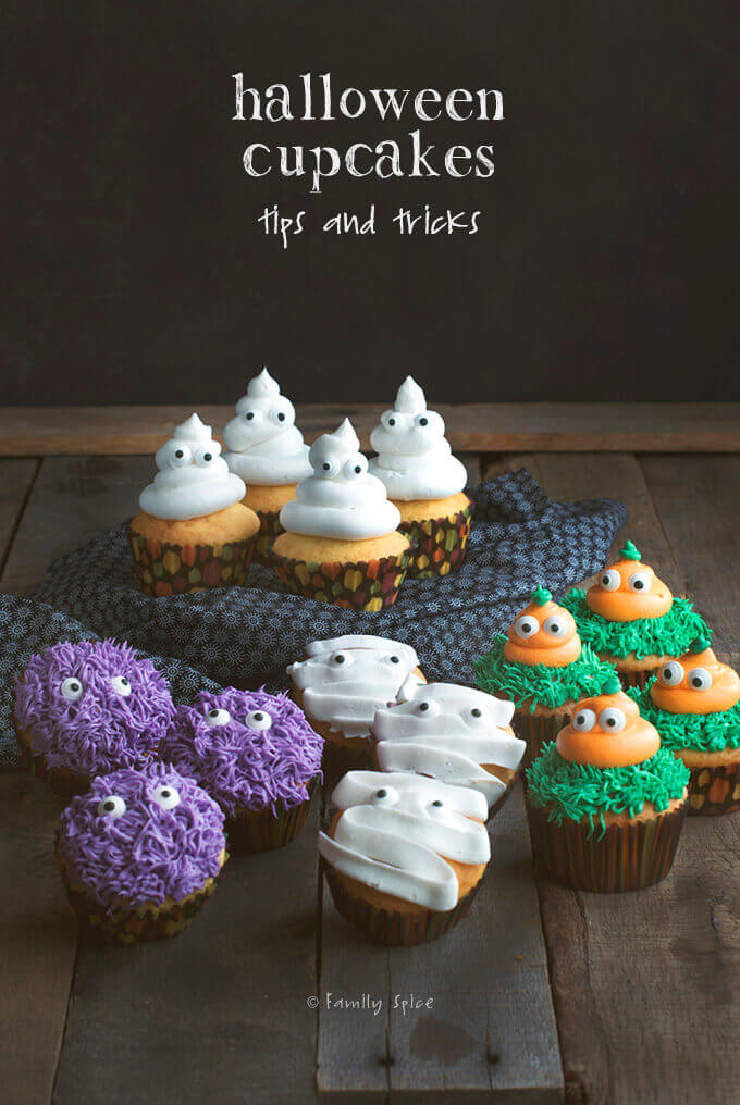 Tips and tricks decorating halloween cupcakes family spice - Decorating tips and tricks ...