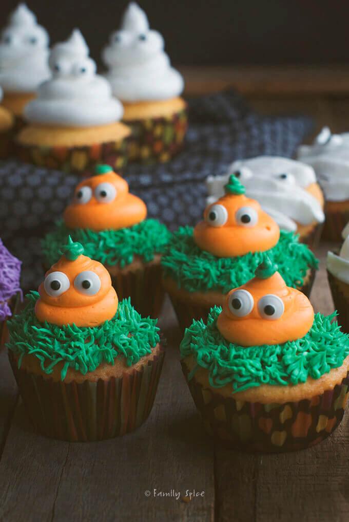 Halloween Pumpkin Cupcakes by FamilySpice.com