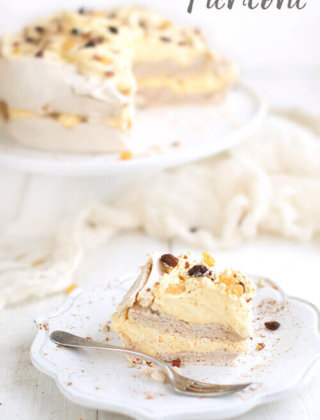 Pumpkin Spice Pavlova Cake with Pumpkin Whipped Cream by FamilySpice.com