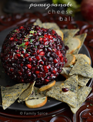Holiday Appetizer: Pomegranate Cheese Ball {Video}