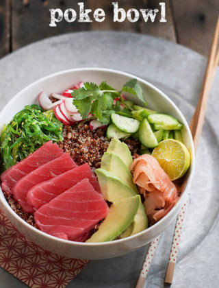 Sushi Deconstructed: Ahi Poke Bowl with Quinoa and Avocado