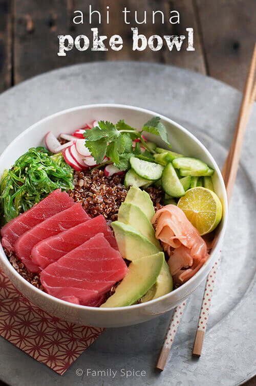 Sushi Deconstructed: Ahi Poke Bowl with Quinoa and Avocado ...