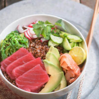 Ahi Poke Bowl with Quinoa and Avocado