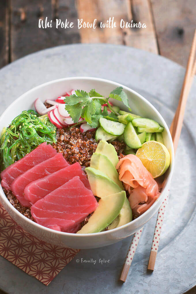 Ahi Poke Bowl with Quinoa | Poke Bowl Recipes To Try At Home | poke bowl ingredients list