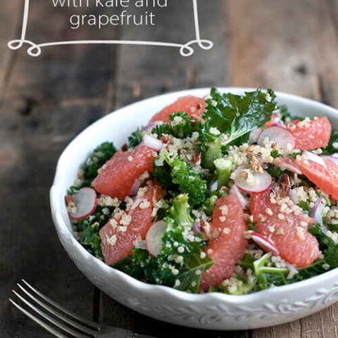 Quinoa Salad with Kale and Grapefruit by FamilySpice.com
