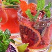 pinterest image for blood orange mojito