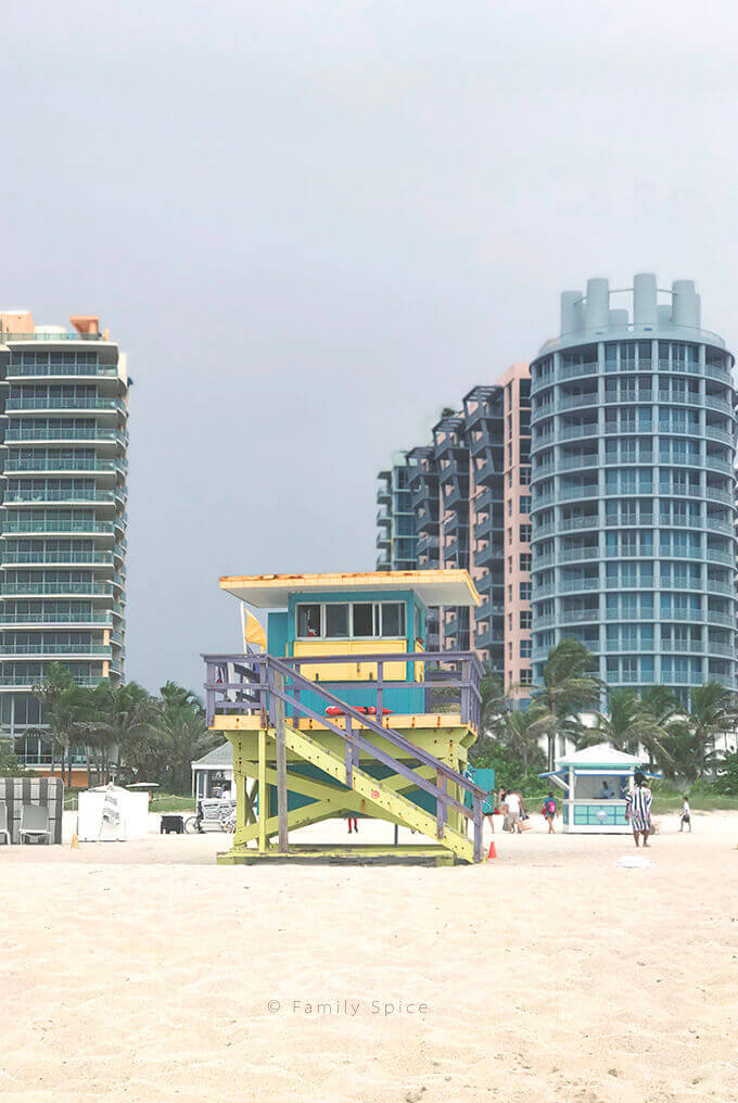 Life guard tower on Miami Beach by FamilySpice.com