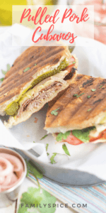 Leftover Pulled Pork Cubano Sandwich with Pickled Shallots by FamilySpice.com