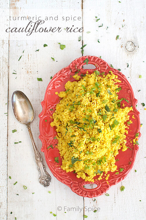 Turmeric and Spice Cauliflower Rice