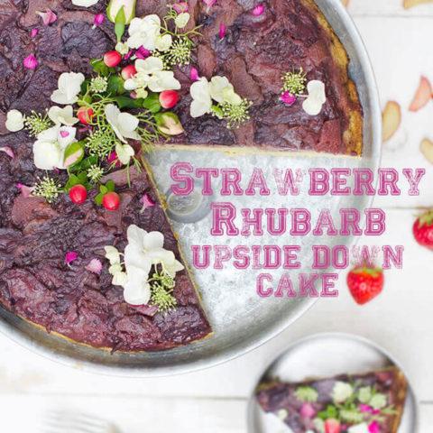 Strawberry Rhubarb Upside Down Cake by FamilySpice.com