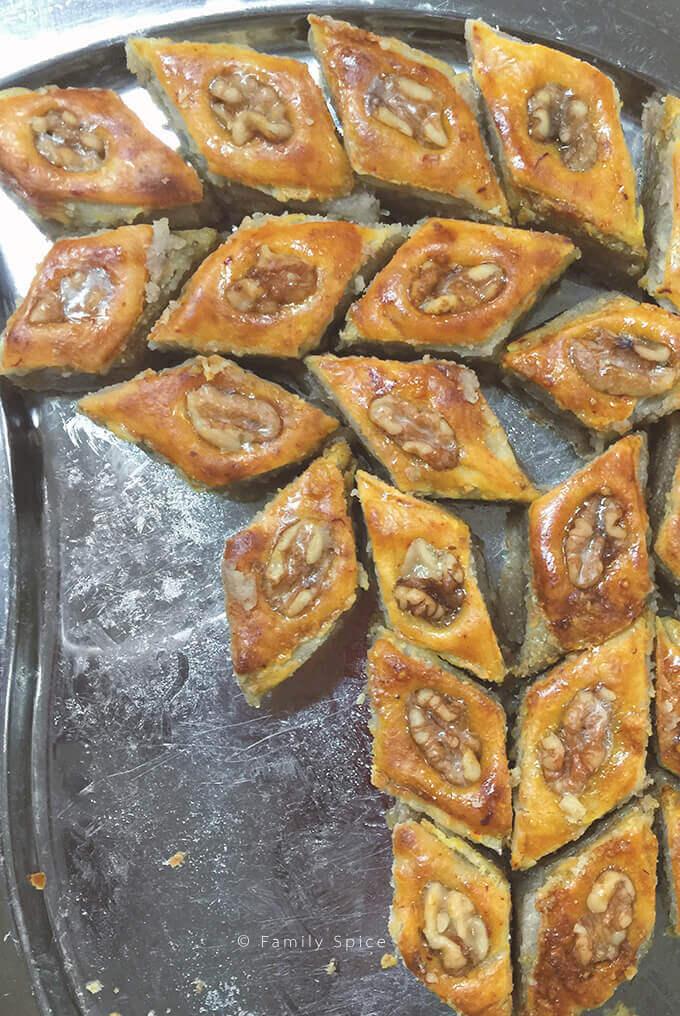 Baku-style baklava from Pomegranates & Saffron Cookbook -- FamilySpice.com