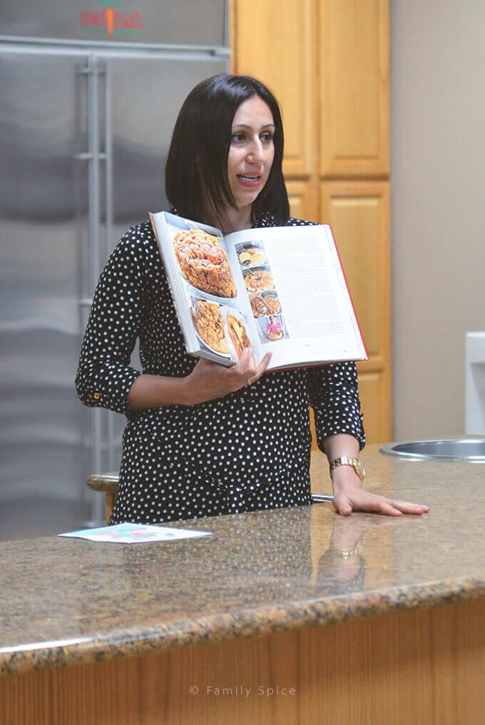 Feride Buyuran talking about her cookbook,Pomegranates & Saffron -- FamilySpice.com