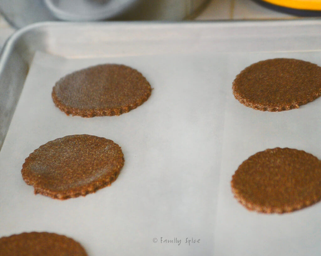 Quinoa spice cookies on a baking sheet ready to bake