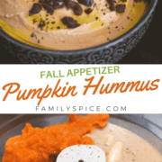 pinterest image for pumpkin hummus