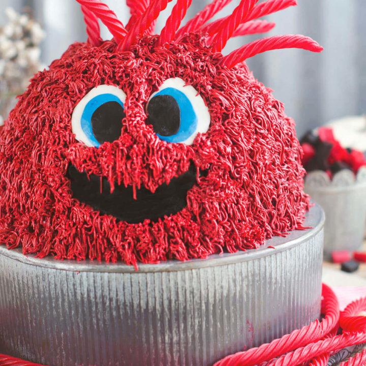 Red Vine Monster Cake