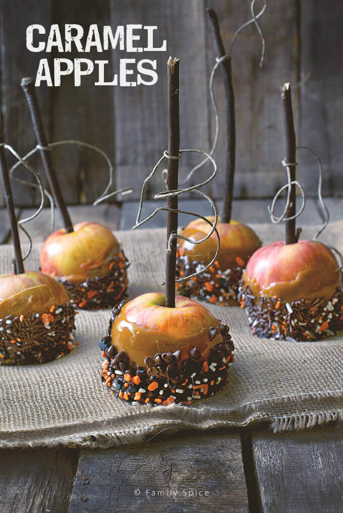 Caramel Apples by FamilySpice.com