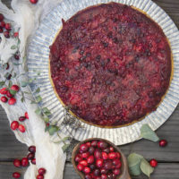 Orange Cranberry Upside Down Cake