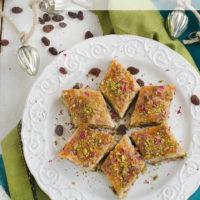 Persian Baklava with Raisins, Pistachios and Almonds