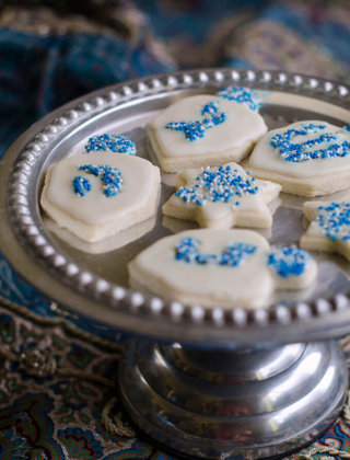 Cream Cheese Sugar Cookies for Chanukkah by FamilySpice.com