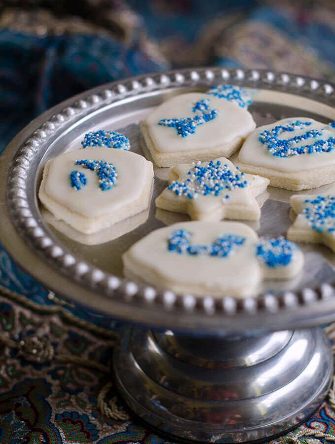 Cream Cheese Sugar Cookies for Chanukkah by FamilySpice.com