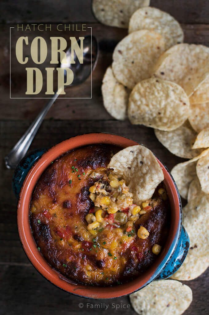 Hatch Chile Corn Dip by FamilySpice.com