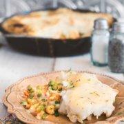 pinterest image for chicken shepherd's pie