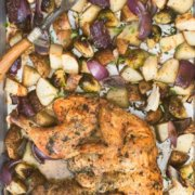 pinterest image for spatchcock roasted chicken