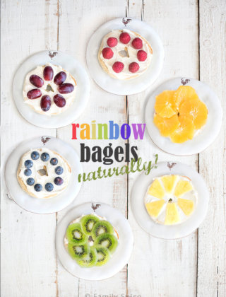 Rainbow Bagels – Naturally | Wolf Gourmet Toaster Giveaway ($400 value)
