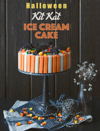 Halloween Kit Kat Ice Cream Cake