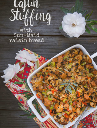 Cajun Stuffing with Sun-Maid Raisin Bread