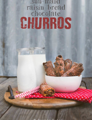 Chocolate Raisin Churros made with Sun-Maid Raisin Bread by FamilySpice.com
